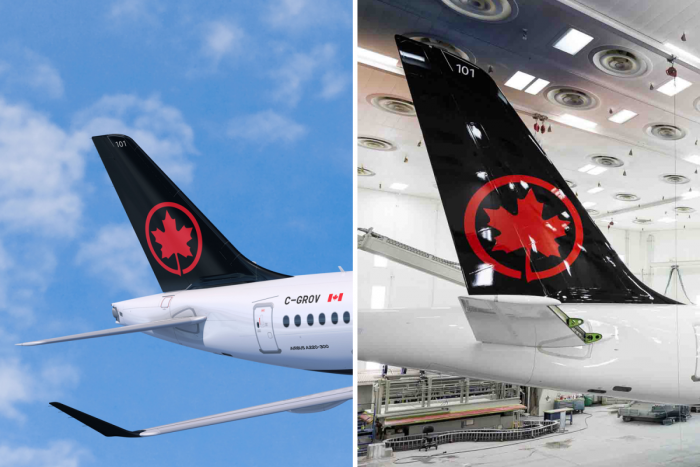 Air Canada, Airbus A220, logo mishap