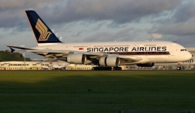 Airbus A380-800 in Singapore Airlines livery