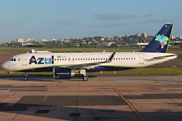 Azul jet on taxiway
