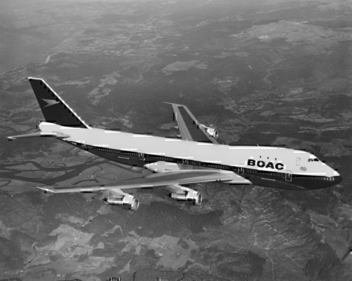 old Boeing 747 BOAC