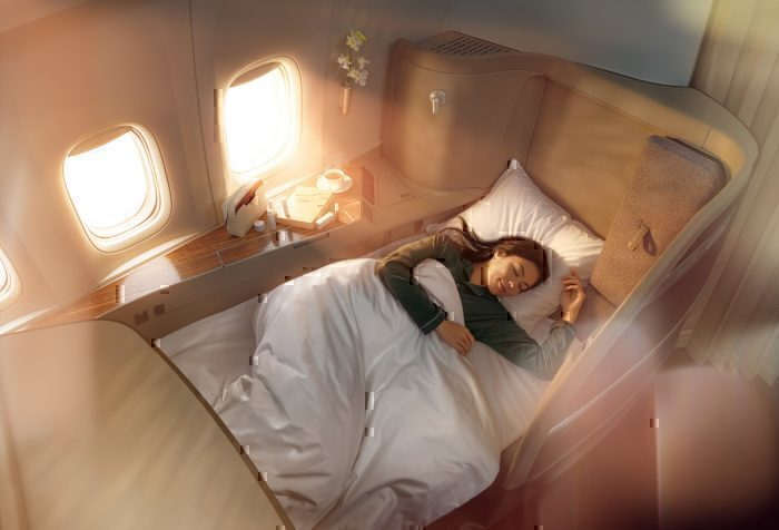 Cathay first class cabin interior