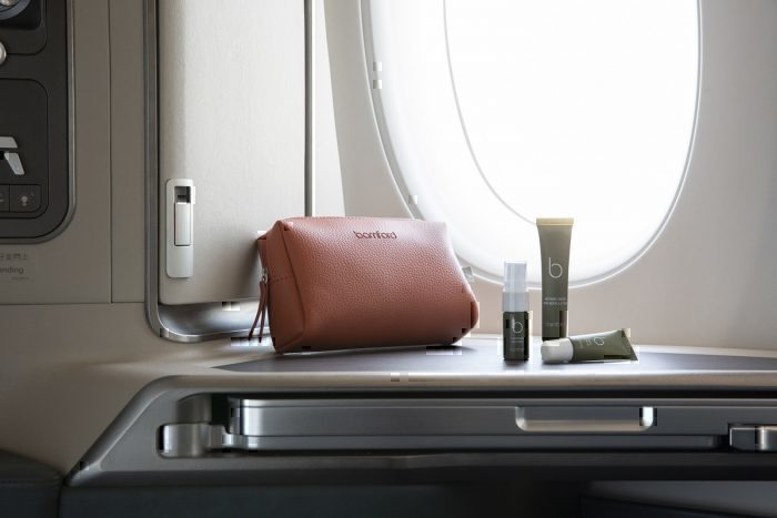 Cathay business class cabin interior