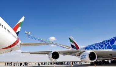 Emirates, Dubai Airshow, Airbus, Boeing