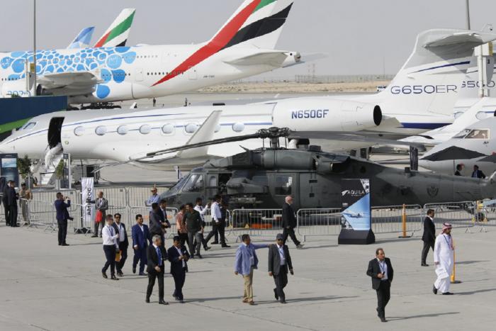 Dubai airshow delegates