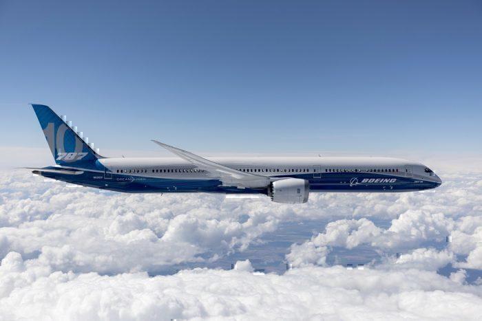 Boeing 787 test in flight