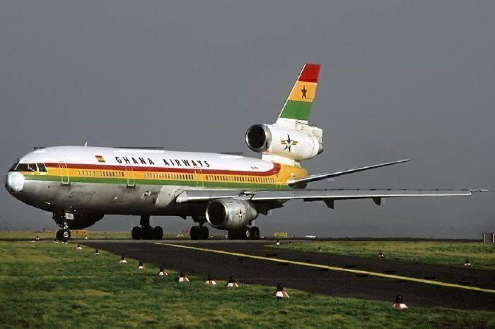 Ghana Airways jet on taxiway