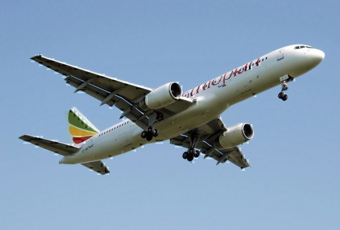 Ethiopian Airlines jet take-off