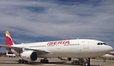 Iberia jet on taxiway