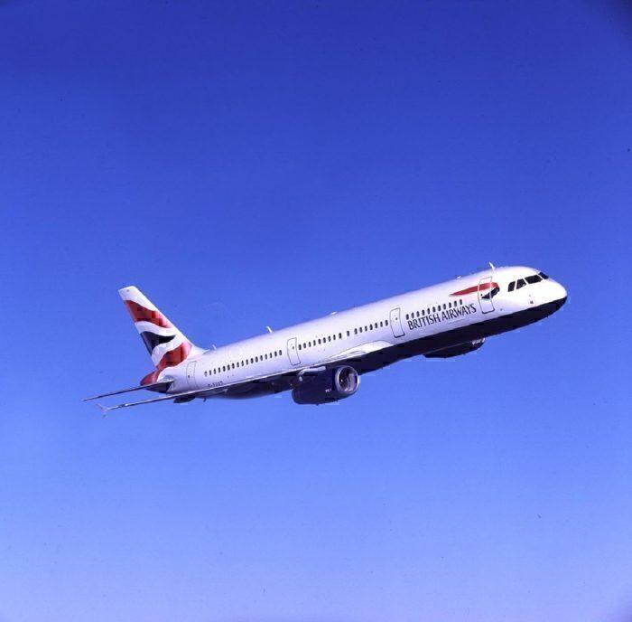 BA A321 in flight