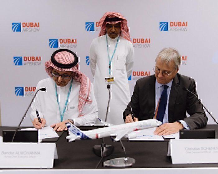 Flynas and Airbus signing Dubai 2019