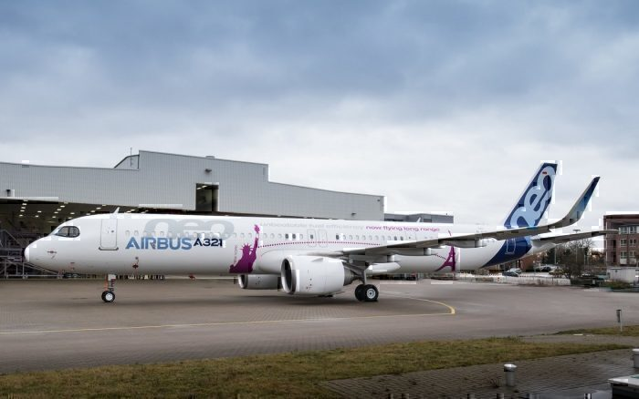 Airbus A321neo on apron