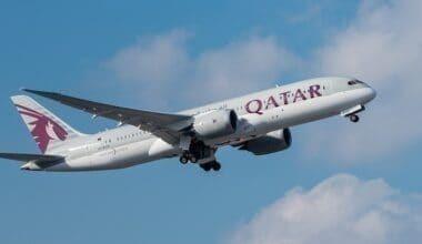 Qatar jet in flight