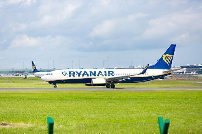 Ryanair jet on ground