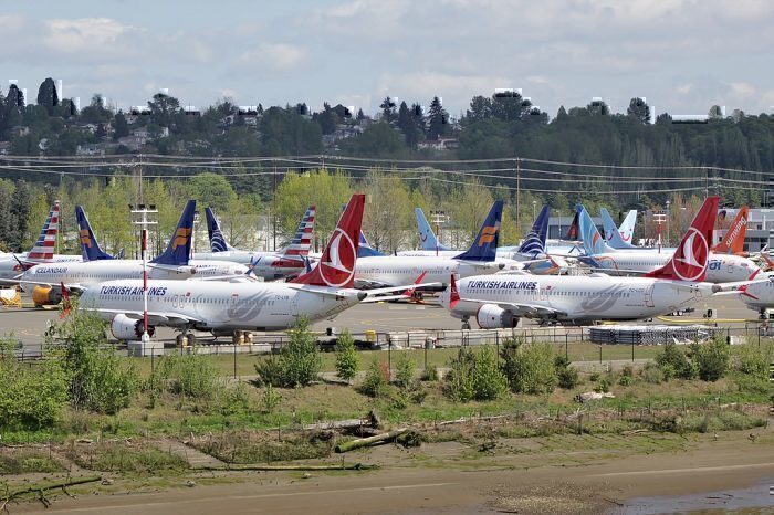Grounded Boeing 737 MAX in Seatlle