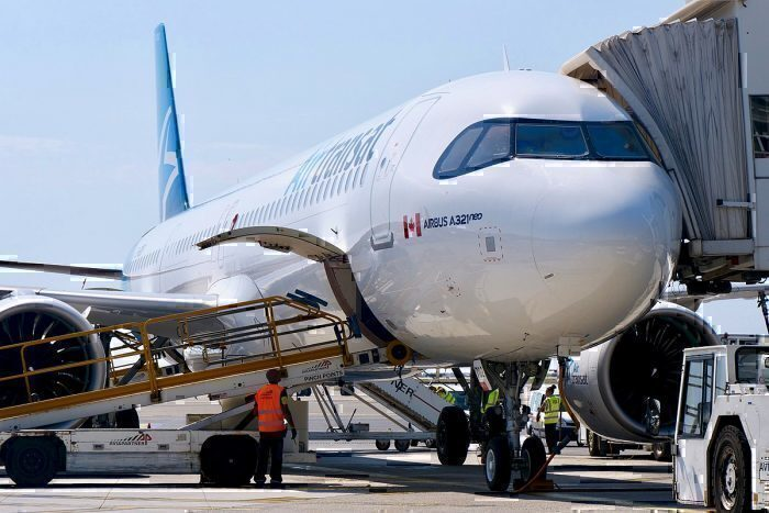 Air Transat A321neo at the gate