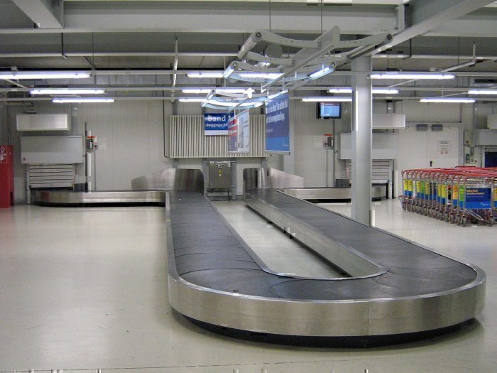 Empty baggage carousel