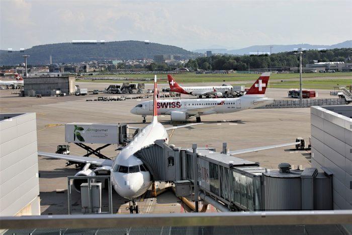 Zurich airport gate