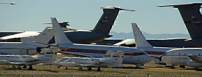 An aircraft graveyard/boneyard