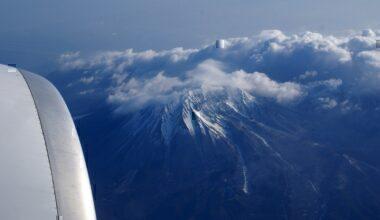 """VOLCANO """"DAISEN"""" FROM 777 F-GSQB AIR FRANCE FLIGHT CDG-KIX"""