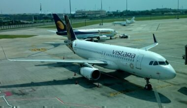 Vistara Airlines at Delhi T3