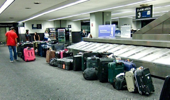 Excess luggage airport