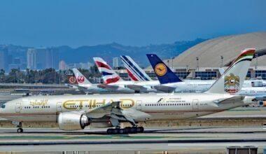Etihad, BA, Lufthansa at airport