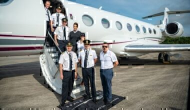 The One More Orbit team in front of the G650ER