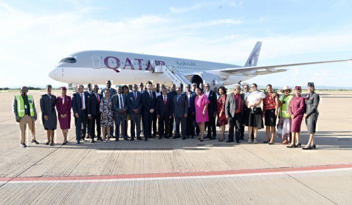 Qatar Airways, Airbus A350, Botswana