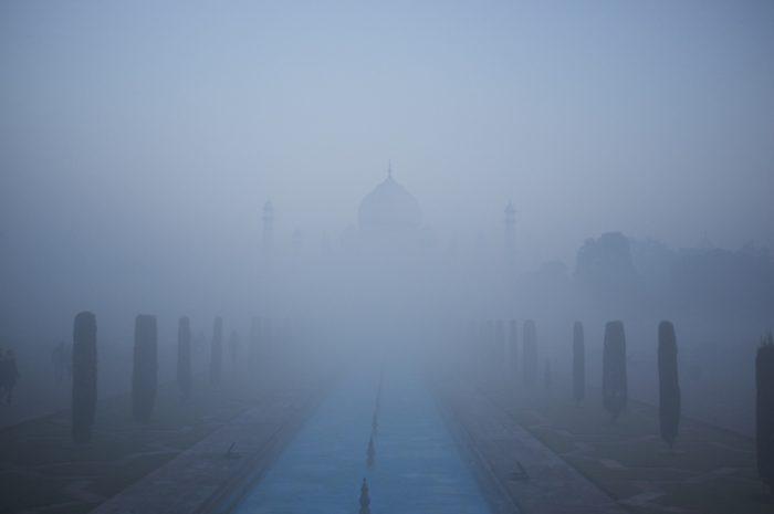 Taj Mahal Fog