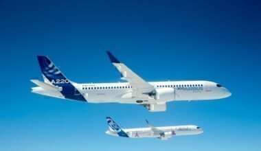 Airbus A220-300 and A321
