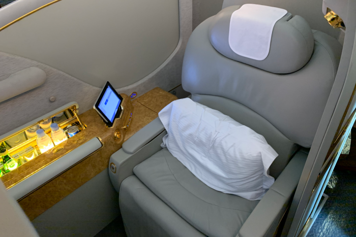 Emirates, Airbus A380, First Class Seat