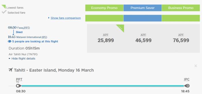 ATN booking fare comparison