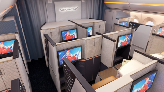 Aeroflot, Airbus A350, Cabin