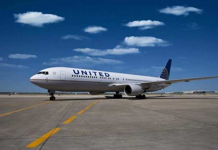 United Airlines Aircraft At Airport