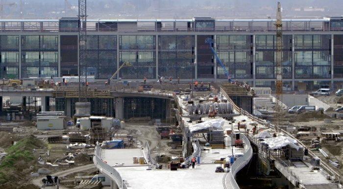 Berlin Brandenburg Airport under construction