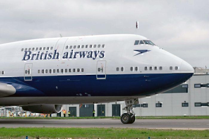British Airways, Boeing 747, San Jose