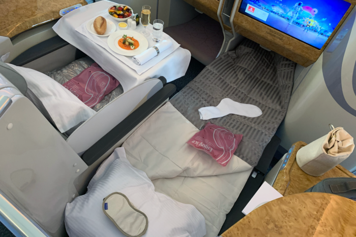 Emirates, Airbus A380, Business soft product