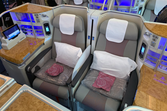 Emirates, Airbus A380, Business Class Seats