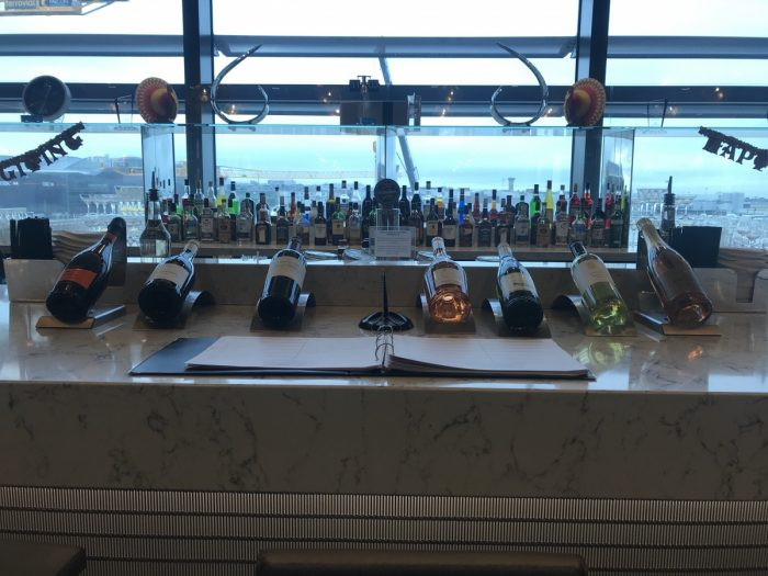 United Club Heathrow T2 Bar Drinks