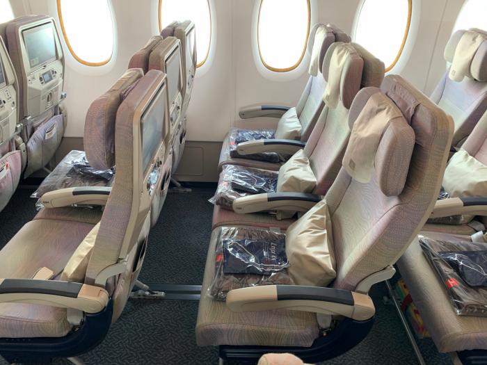 Emirates, Airbus A380, Economy