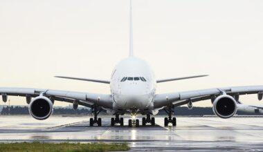 Air France A380 At Airport