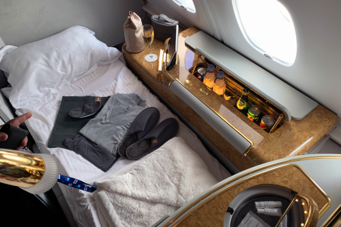 Emirates, First Class, Bed