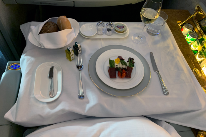 Emirates, First Class, Food