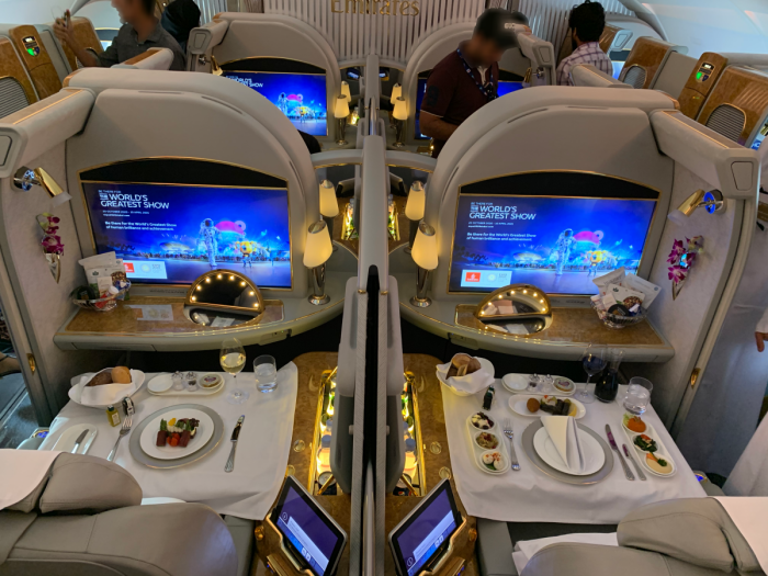 Emirates, Airbus A380, First Class Seats