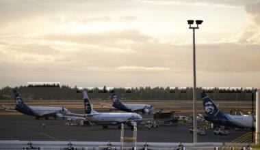 Alaska Airlines aircraft at Sea Tac