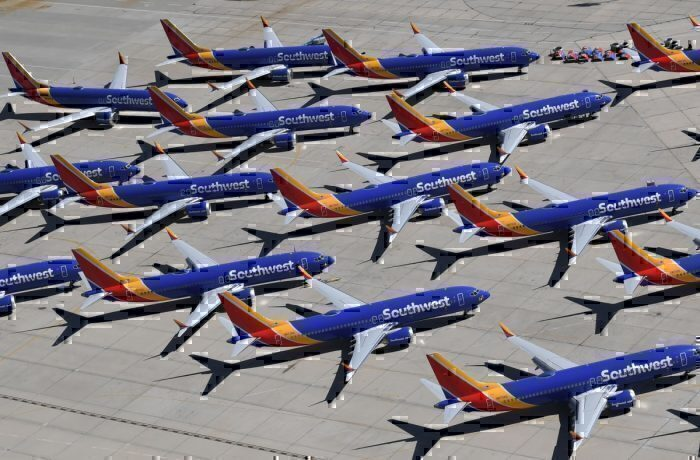 Southwest 737 MAX Parked