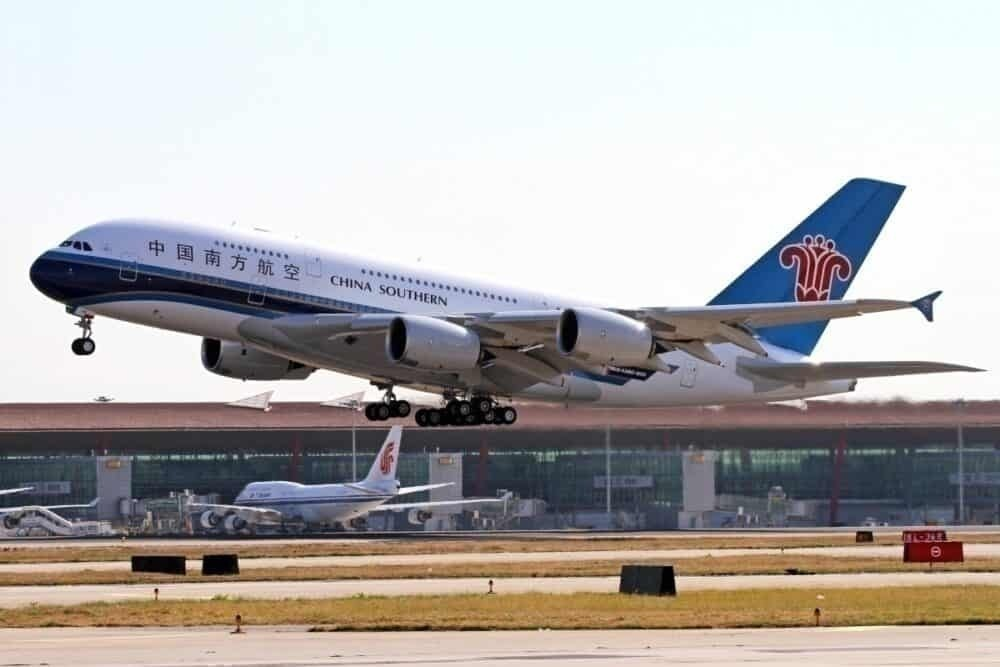 Getty China Southern Airplane takeoff