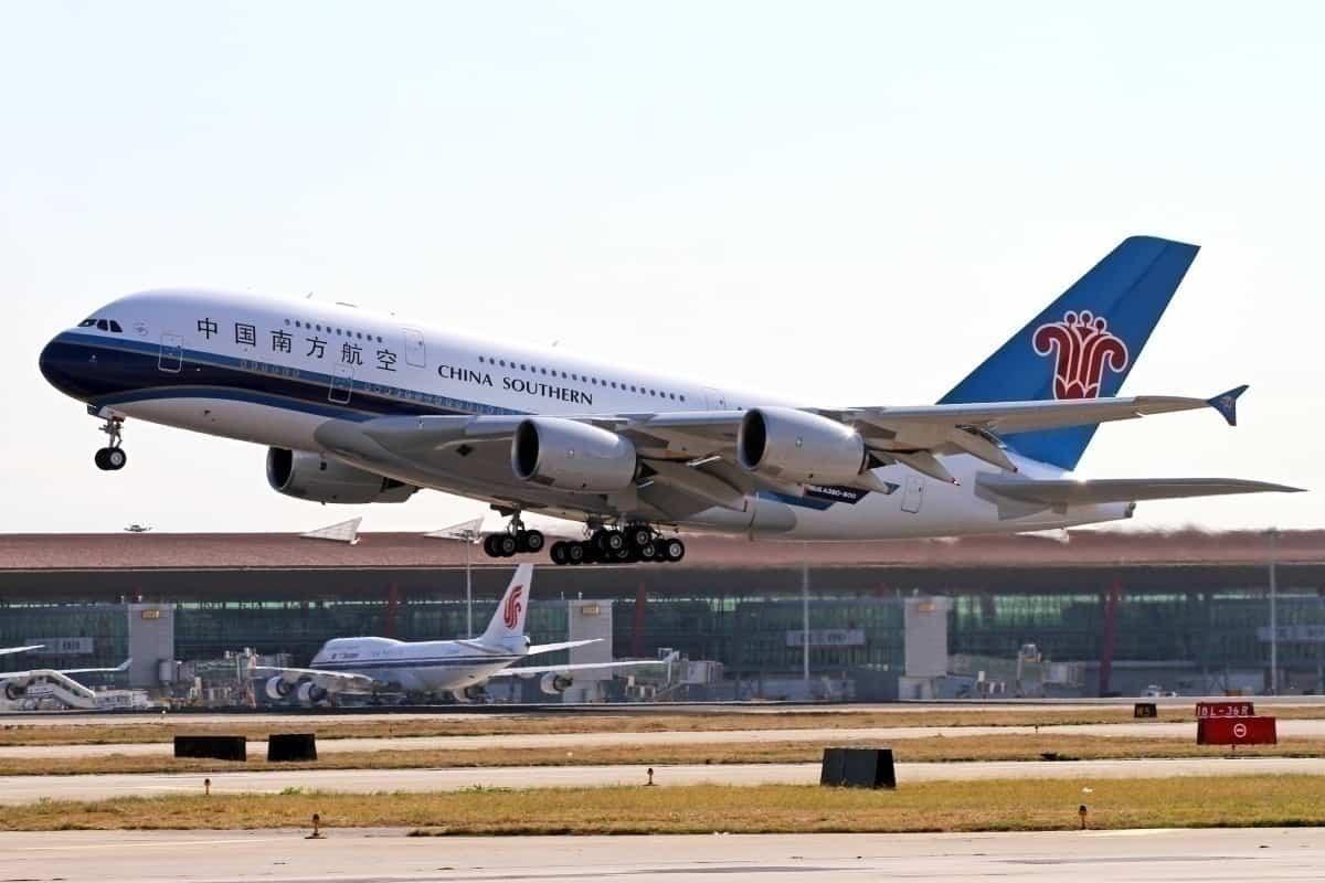 Getty China Southern Airplane takeoff