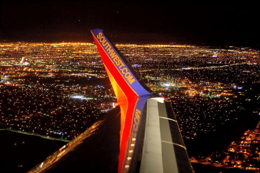 Southwest Airlines Night View Getty