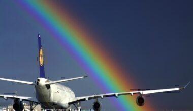 Lufthansa A340 rainbow